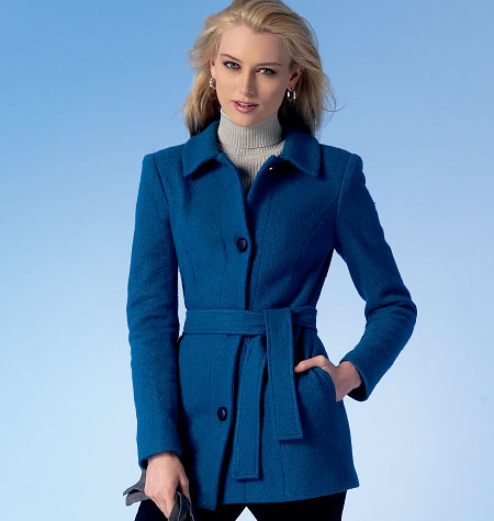 McCall's 7058 Misses'/Miss Petite Jackets, Coats and Belt