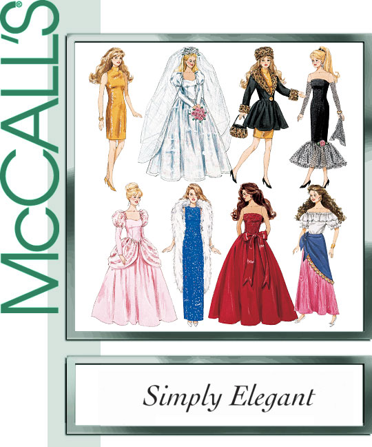 McCall\'s 8552 Simply Elegant doll clothes