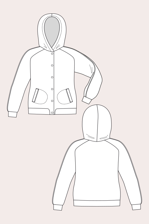 Named Clothing 03-057 Augusta Hoodie Downloadable Pattern
