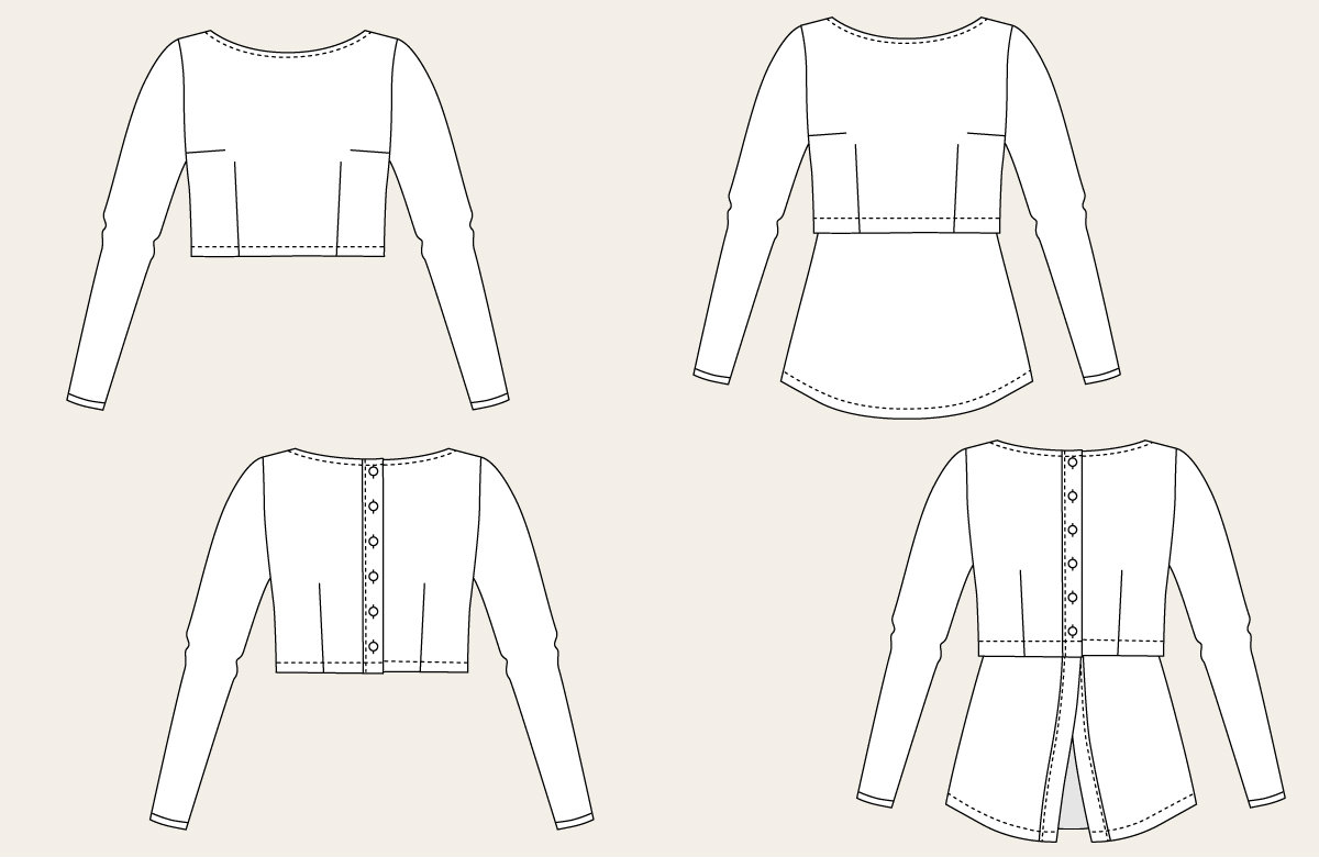 Named Clothing 03-025 Kanerva Button Back Shirt/Peplum ...