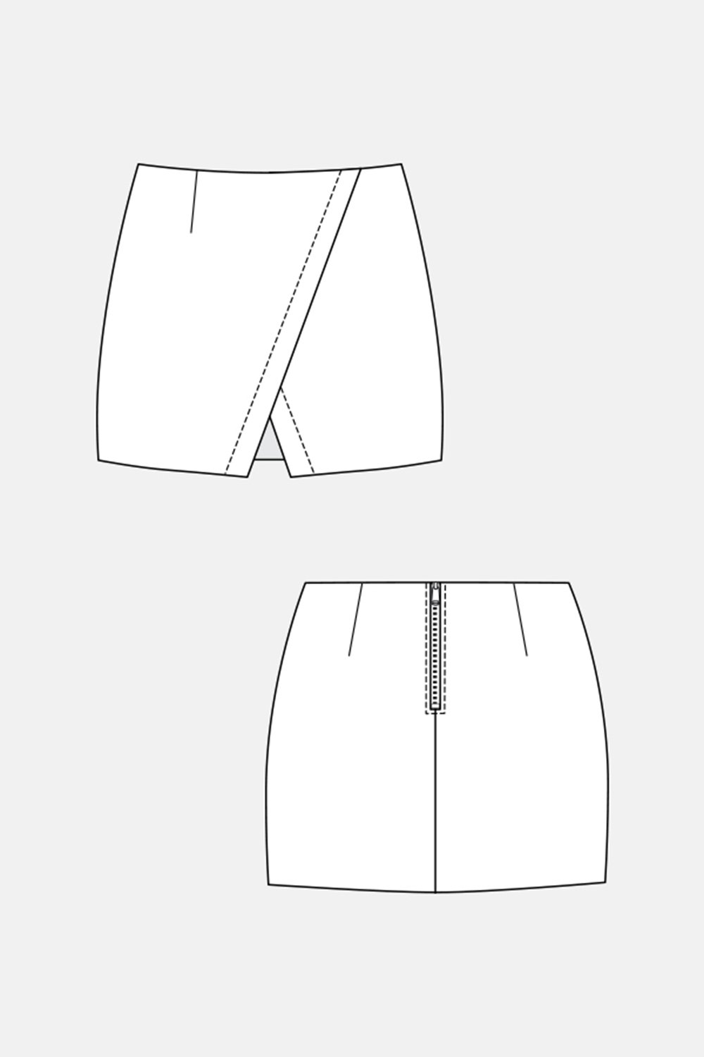 Named Clothing 04-045 NASCHA MINI SKIRT Downloadable Pattern