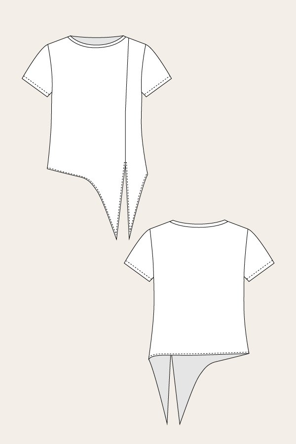 Named Clothing 02-023 Selja Knot Tee Downloadable Pattern