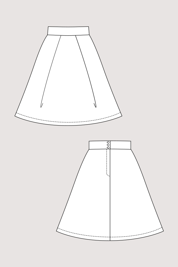 Named Clothing 04-078 Eleonora Pleated Mini Skirt Downloadable Pattern