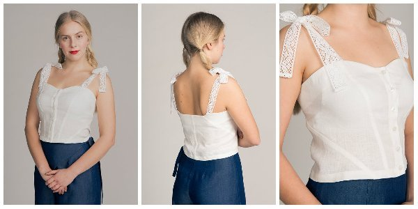 Named Clothing 02-076 Grace Corset Top Downloadable Pattern
