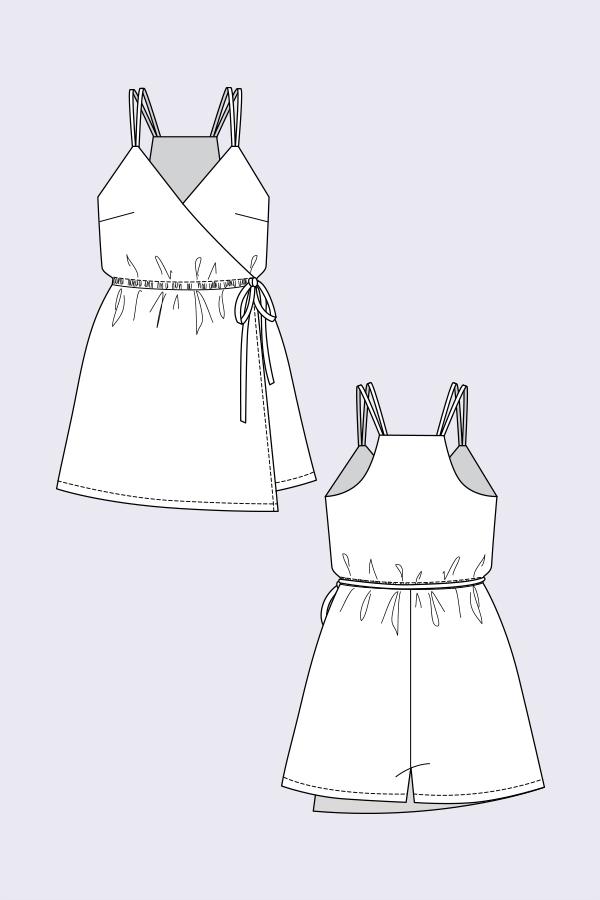 Named Clothing 05-094 Helga Wrap Playsuit Downloadable Pattern