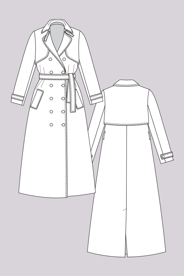 Named Clothing ISLA TRENCH COAT Downloadable Pattern