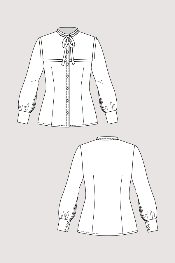 Named Clothing 03-077 Madeleine Bow Tie Blouse Downloadable Pattern