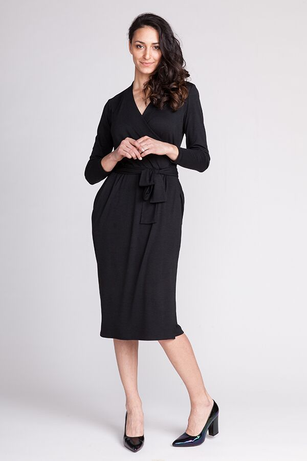 Named Clothing Olivia Jersey Wrap Dress Downloadable Pattern