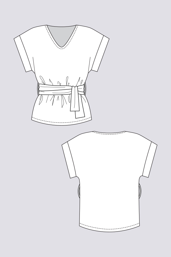 Named Clothing 02-092 Sointu Kimono Tee Downloadable Pattern