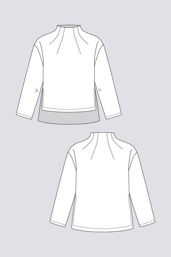 Named Clothing 03-084 Talvikki Sweater Downloadable Pattern