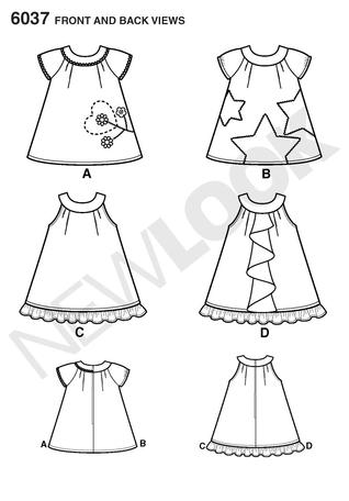 New Look 6037 Babies Dress