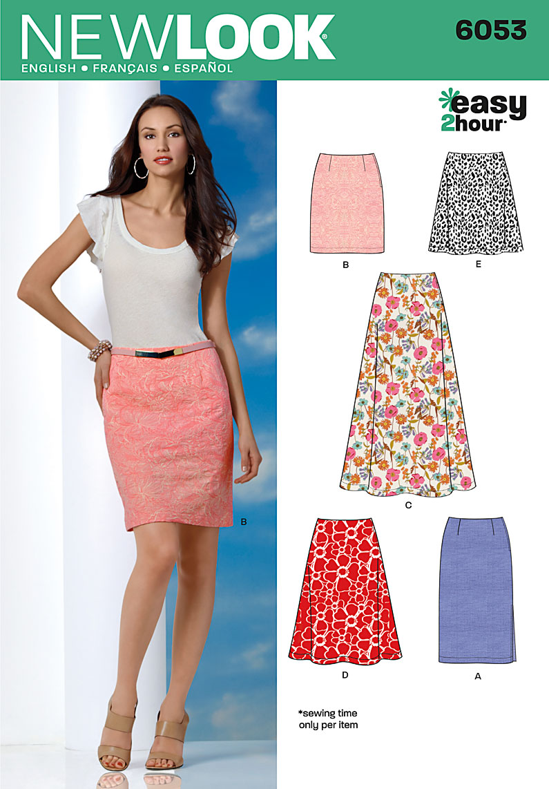 New Look 6053 Misses' Skirts