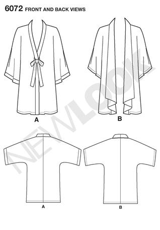 New Look 6072 Workroom from Project Runway, misses\' kimono jacket.