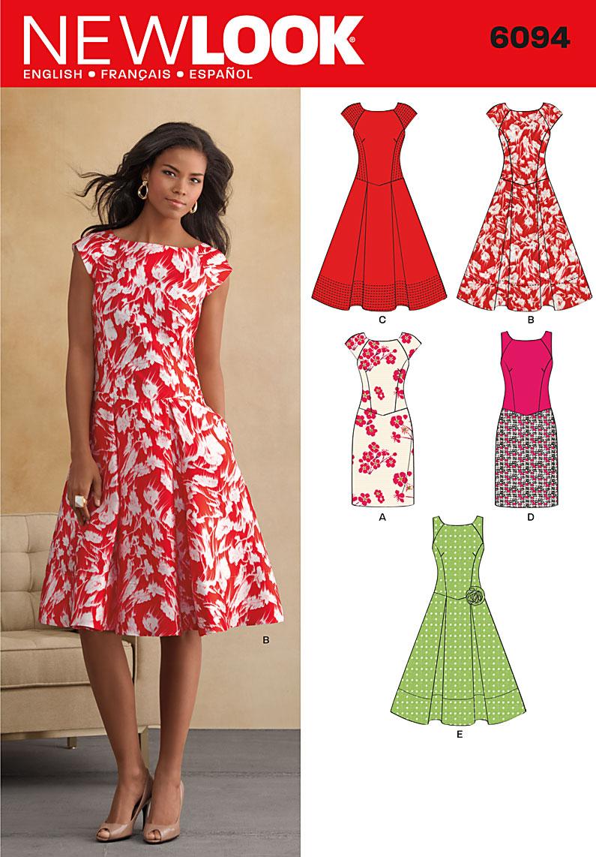 new look 6094 dress. Black Bedroom Furniture Sets. Home Design Ideas