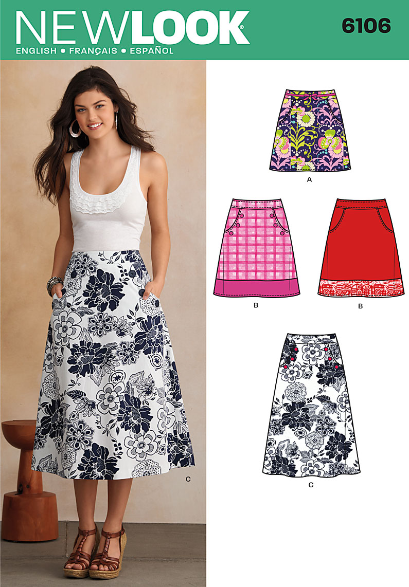 New look 6106 misses skirts prevnext jeuxipadfo Image collections