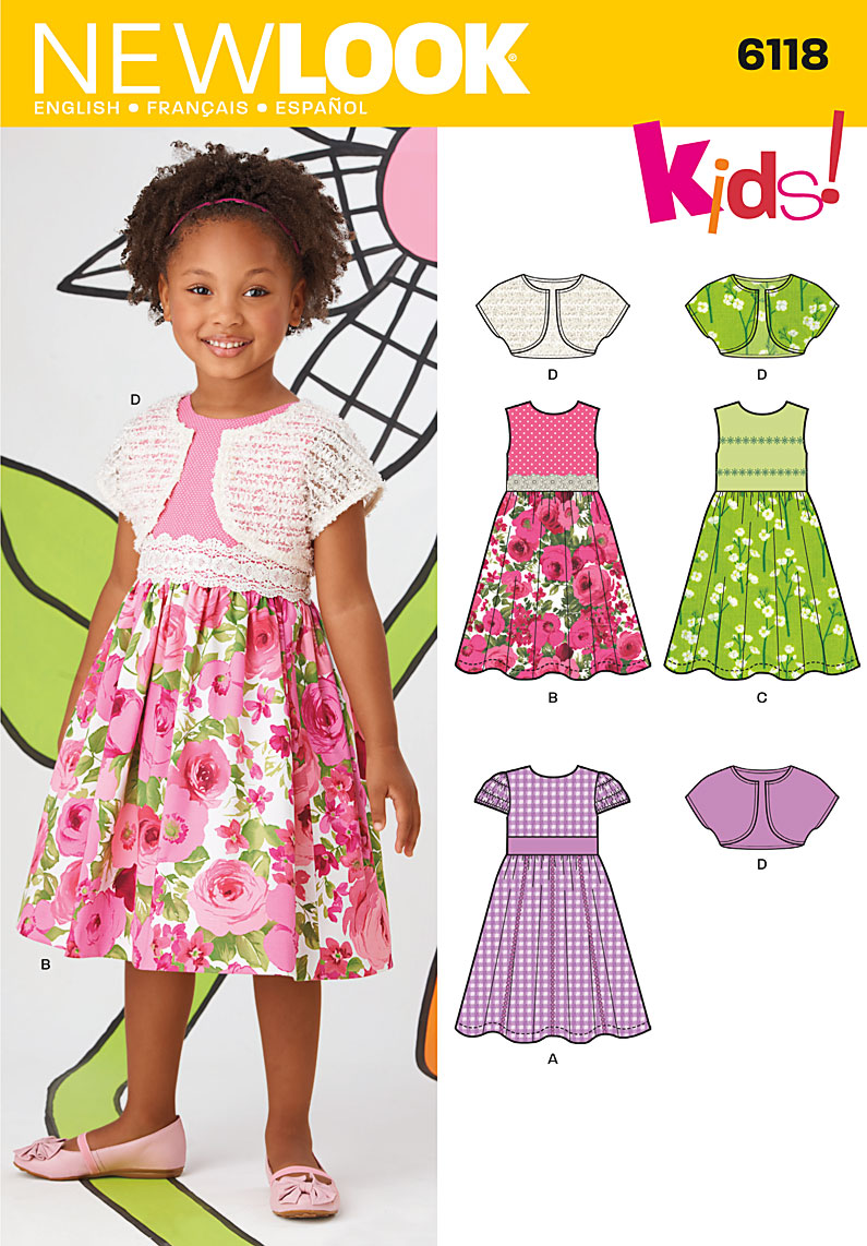 New look 6118 childrens dress and shrug prevnext jeuxipadfo Gallery