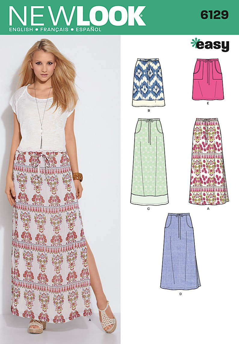 New look 6129 misses skirts prevnext jeuxipadfo Image collections