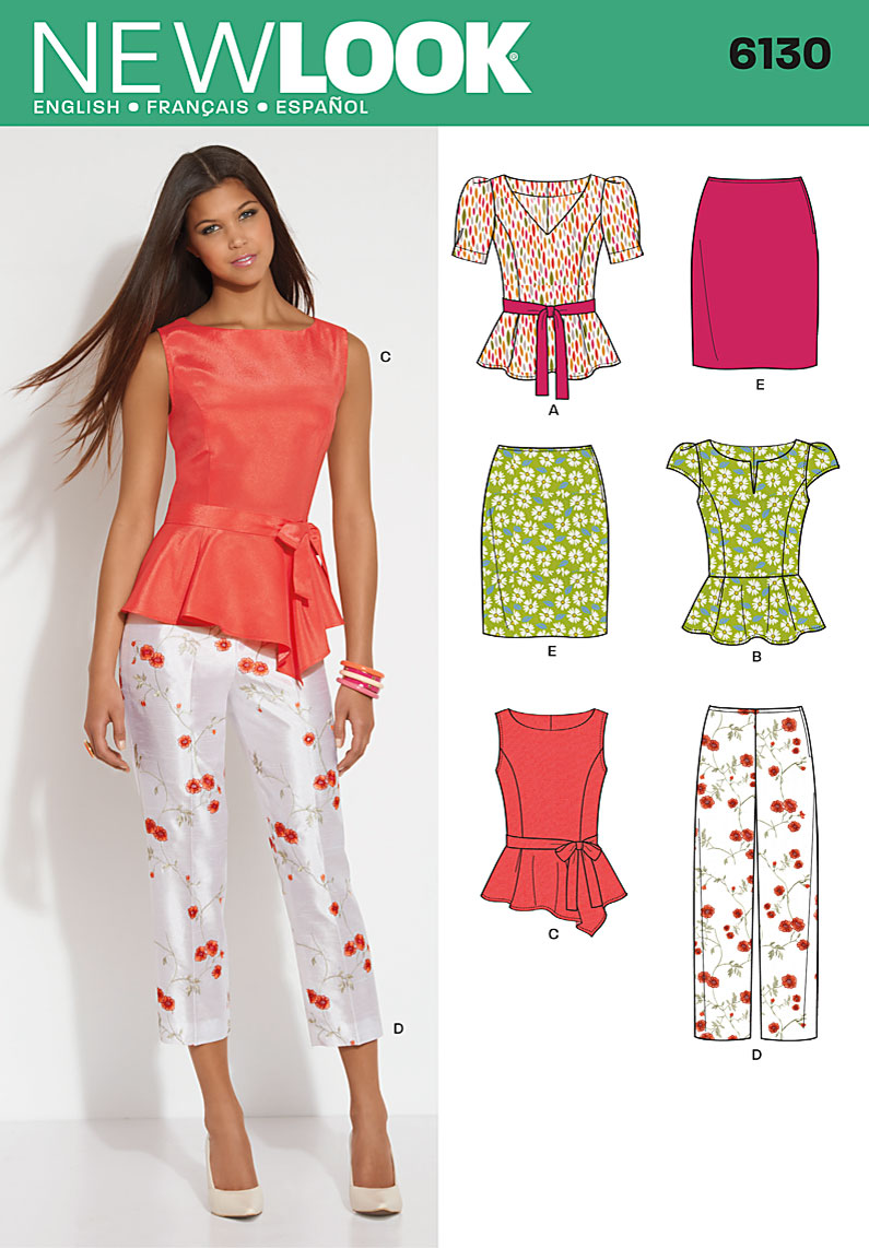 New look 6130 misses top pants skirt and belt prevnext jeuxipadfo Image collections