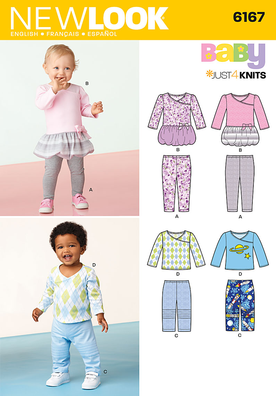 New Look 6167 Babies Top, leggings and Pants