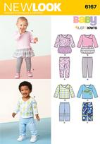 New Look 6167 Pattern ( Size NB-S-M-L )