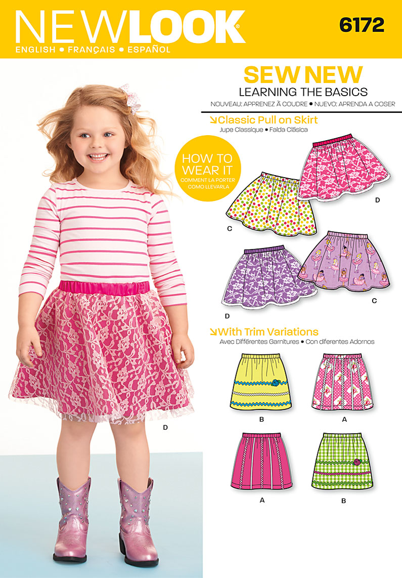 New look 6172 childrens skirt prevnext jeuxipadfo Image collections
