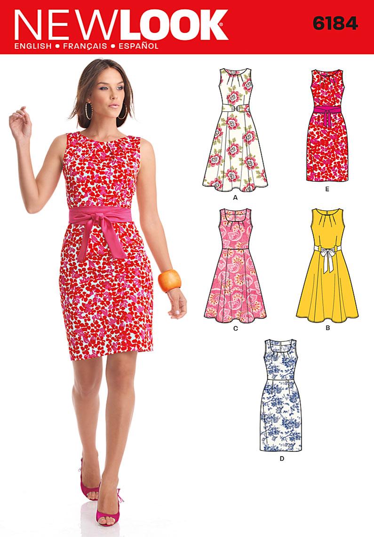 New Look 6184 Misses Dress