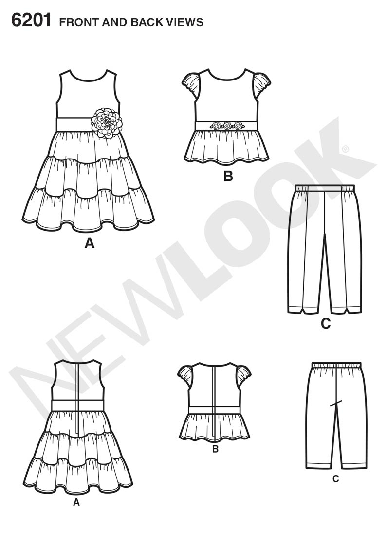 New Look 6201 Children S Dress