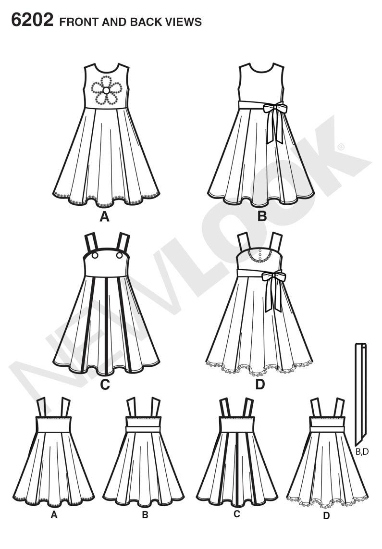 New Look 6202 Childrenu0026#39;s Dress