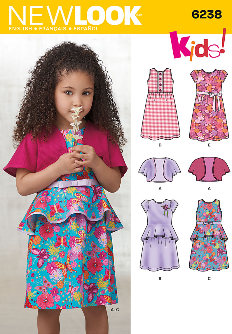 New look 6238 childs dress and knit bolero prevnext bankloansurffo Image collections