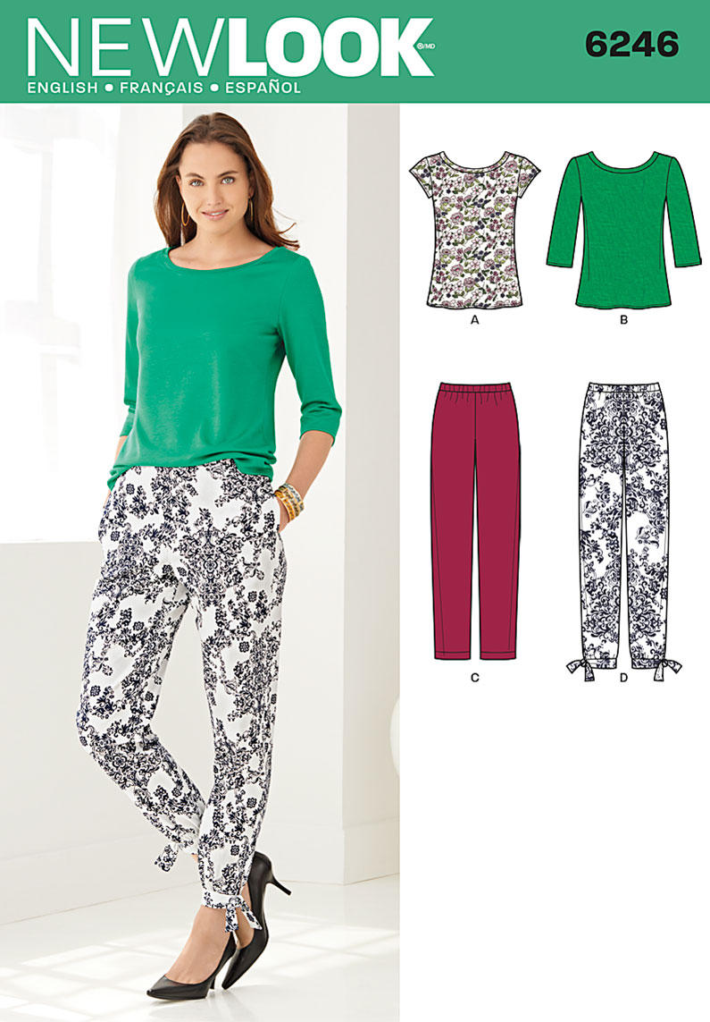 New Look Misses' Tapered Ankle Pant and Knit Top 6246