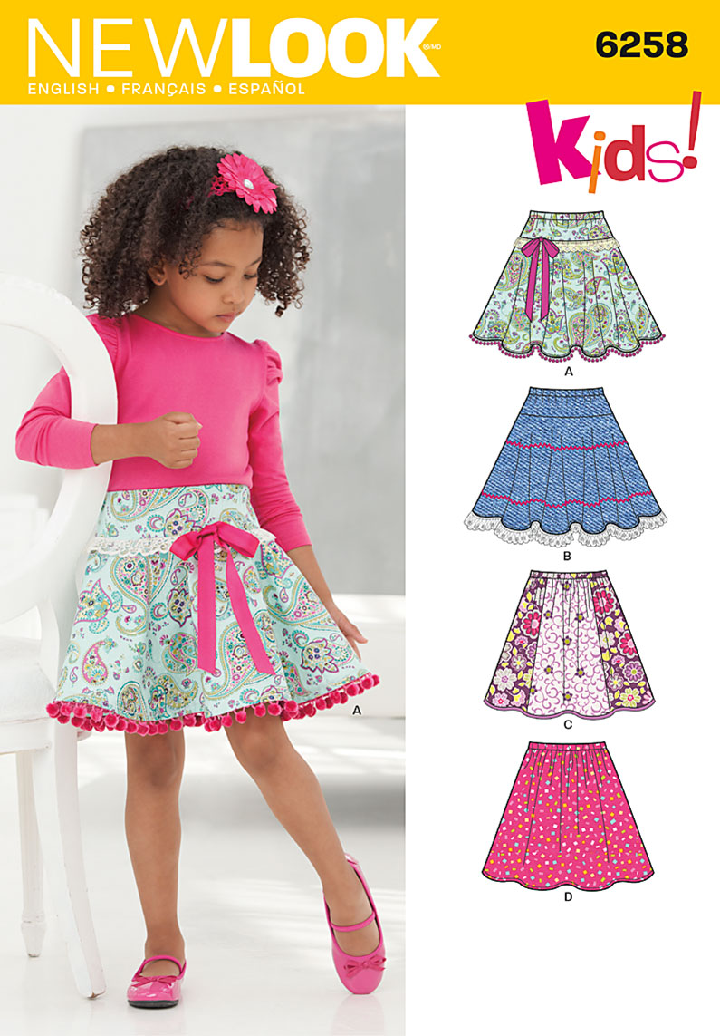 New Look Child's and Girls' Circle Skirts 6258