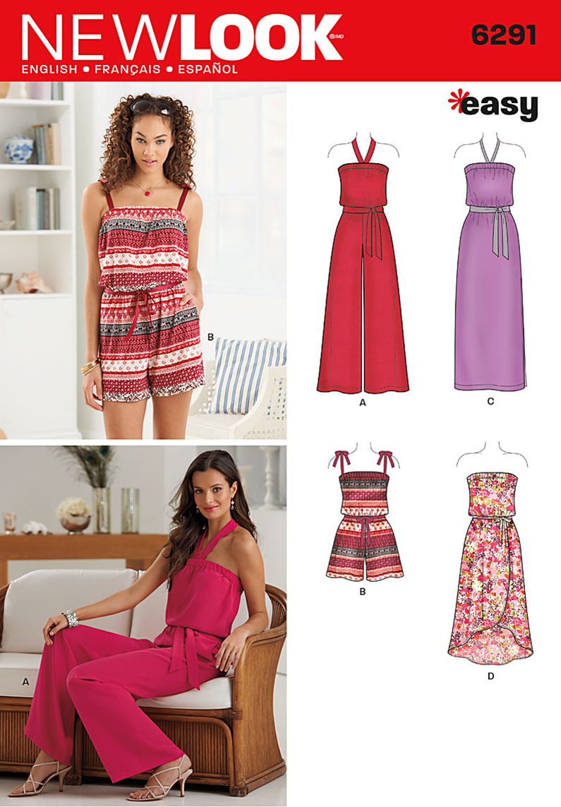 New Look 6291 Misses\' Jumpsuit & Dress Each in Two Lengths