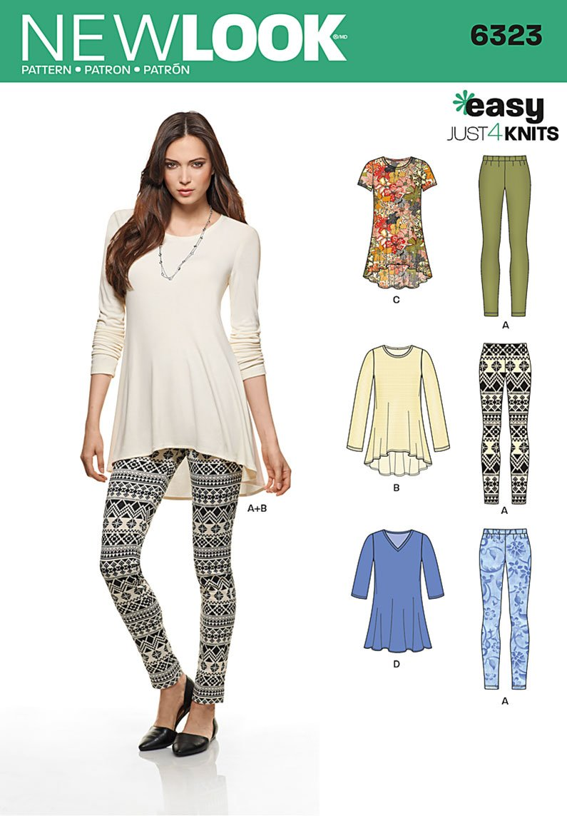 New Look 6323 Missesu0026#39; Knit Leggings and Pullover Tunics