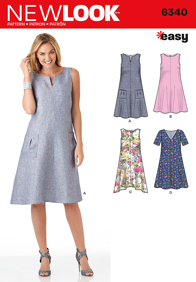 new look 6340 misses easy dresses