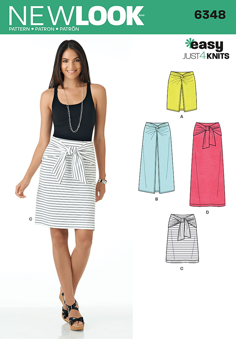 New Look 6348 Misses\' Easy Knit Skirts