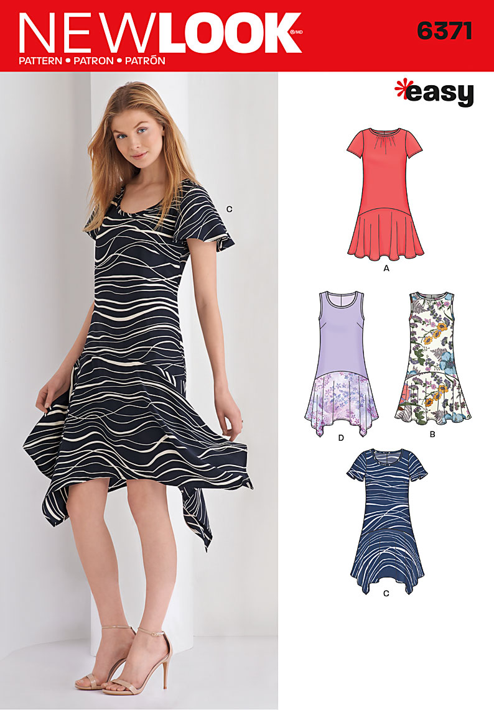New Look 6371 Misses\' Easy Dresses