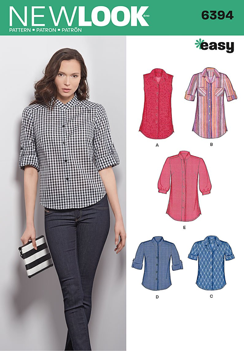 New look 6394 misses shirt for Pattern shirts for women