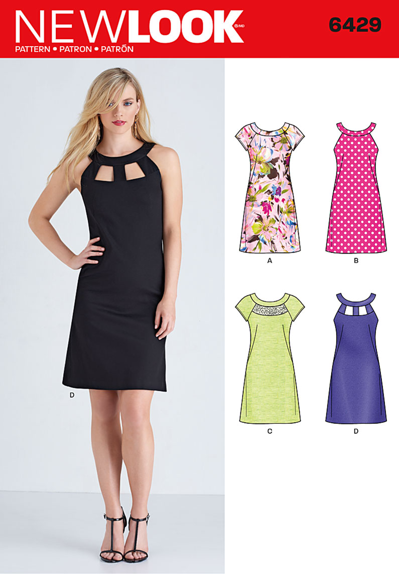 New look 6429 misses 39 dresses for Moda vintage