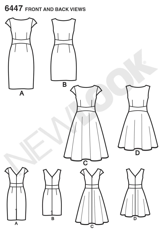 New Look 6447 Misses\' Dresses