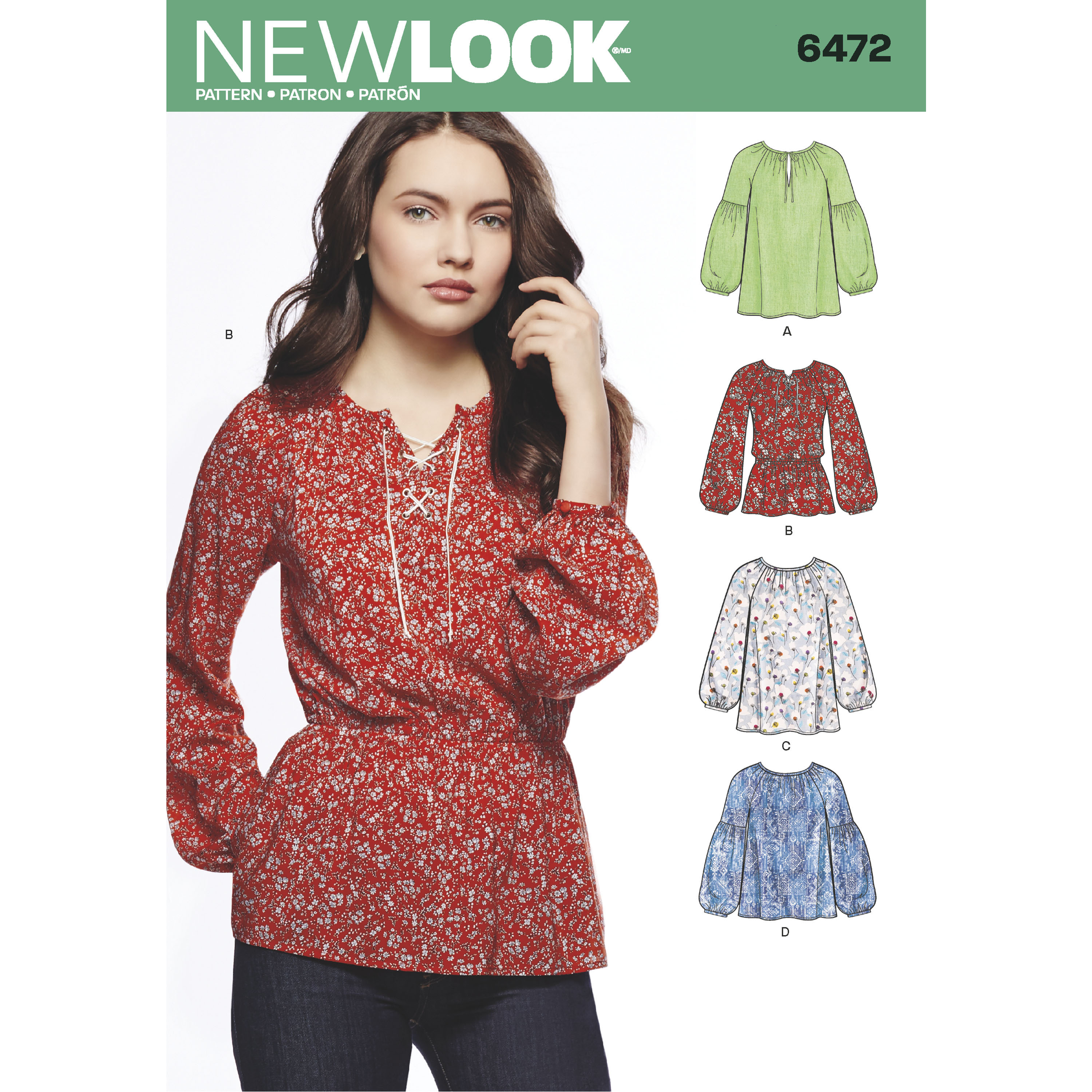 New Look 6472 Misses' Boho Blouses