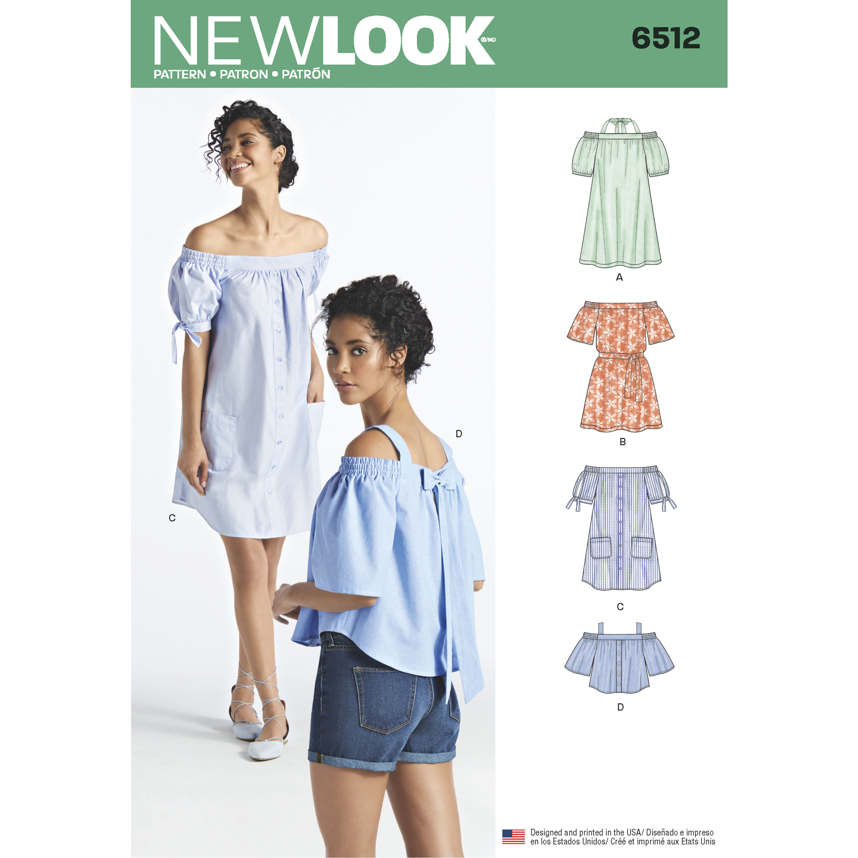 85c1acc539bc5 New Look 6512 Misses  Dresses and Tops in Two Lengths with ...
