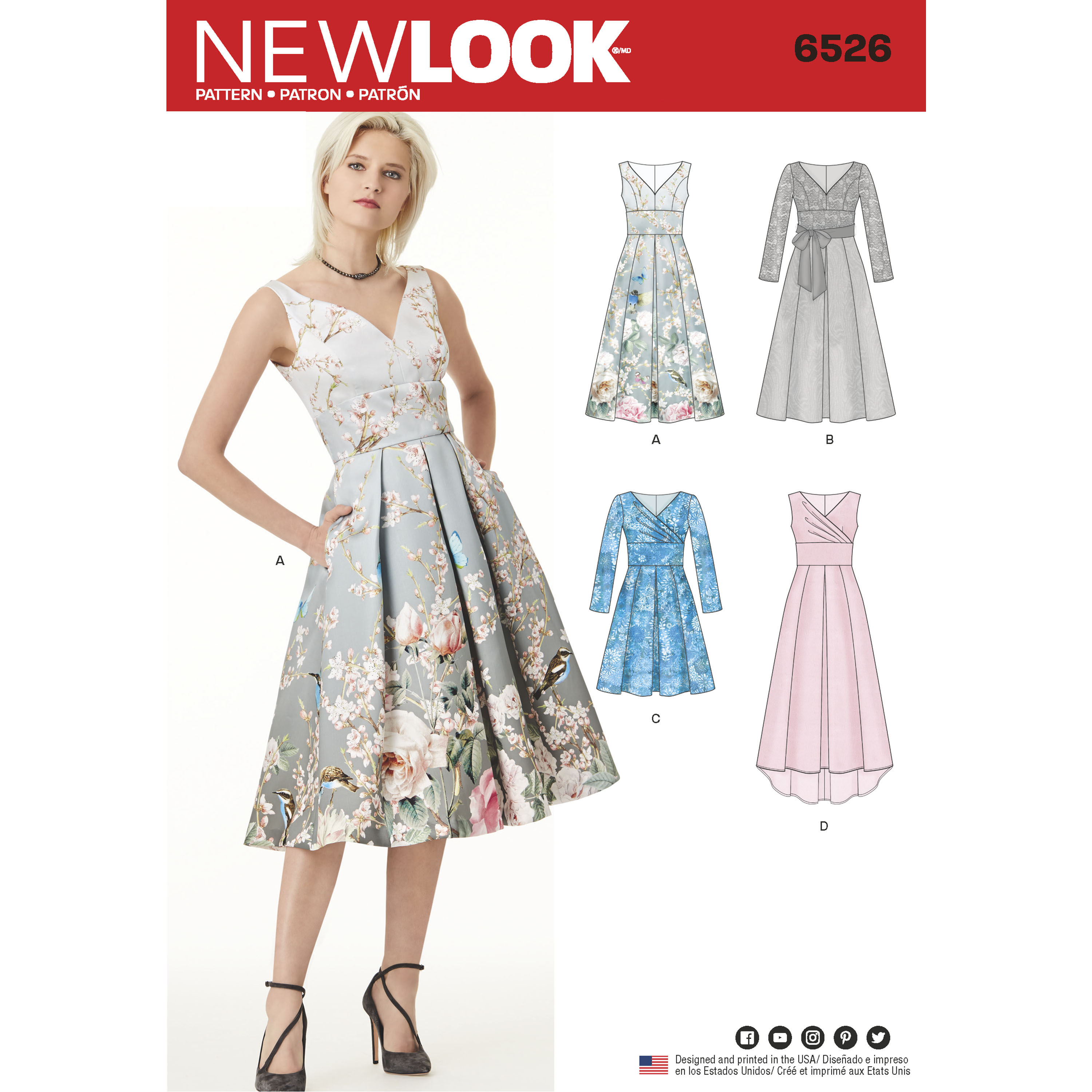 2b3d17420cd New Look New Look Pattern 6526 Misses  Dress with Bodice Variations