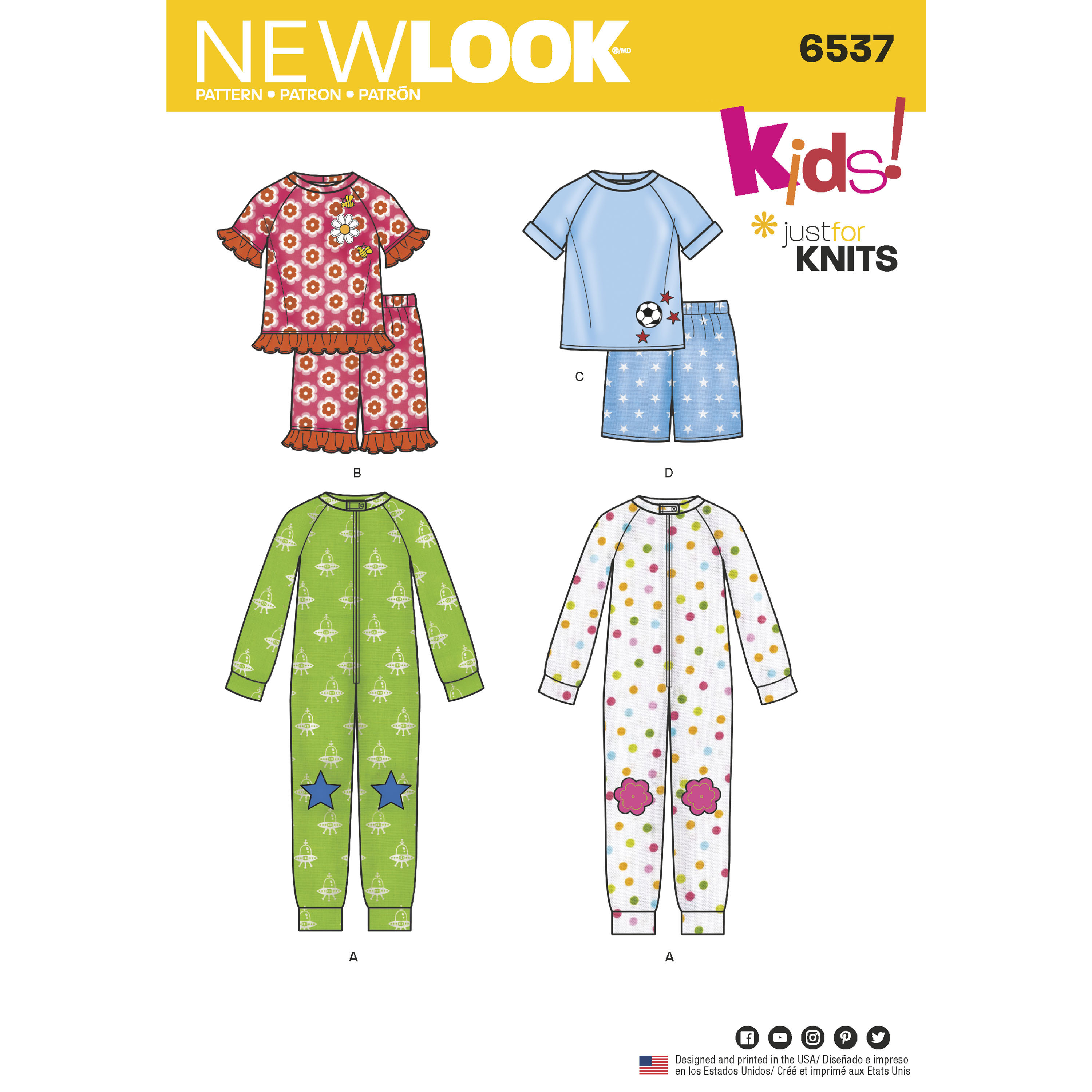 New Look New Look Pattern 6537 Toddler and Child Cozywear