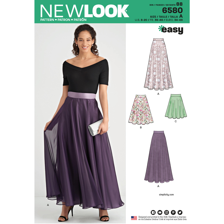 4f9846ecd0 New Look 6580 Misses' Circle Skirt