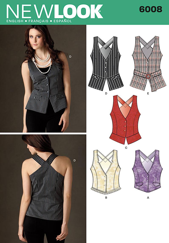 New look 6008 misses vests prevnext jeuxipadfo Choice Image