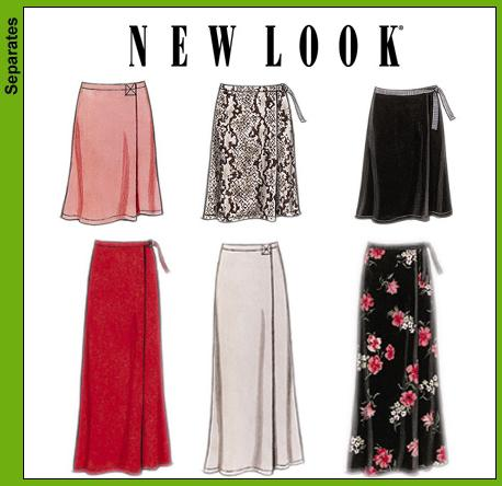 New Look 6041 Misses Wrap Skirts