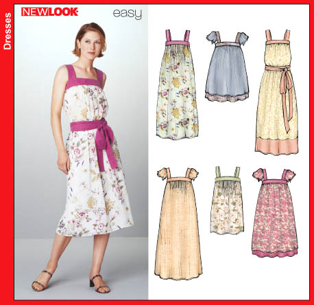 New Look 6239 Misses Dress and Top