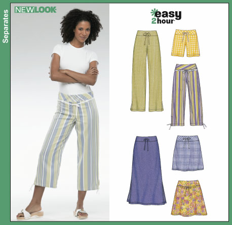 New Look 6354 Misses Pants, Shorts, Skirts