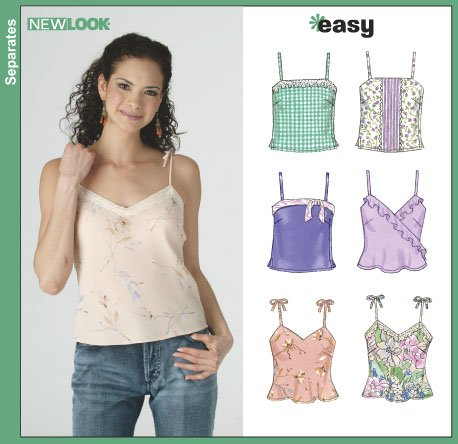 New Look 6385 Misses Camisole Tops