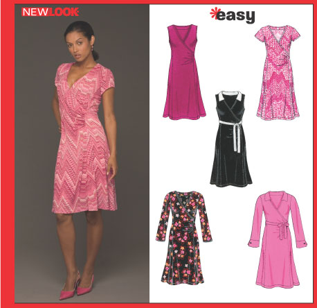 New Look 6429 Misses Knit Dress